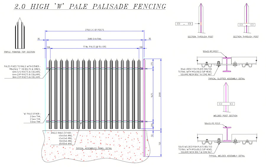 tower fence  tower palisade fence factory  exporter  hot