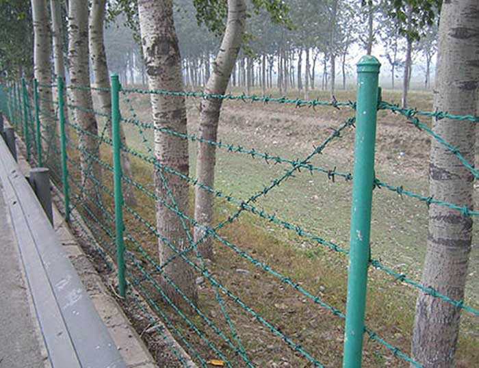 The use of barbed wire