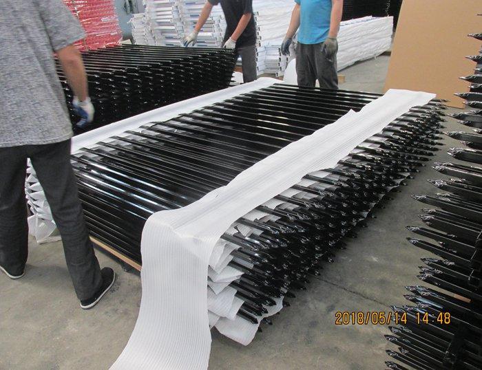 Steel picket fence
